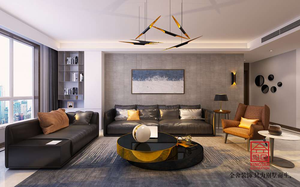 奥北公元134平米装修-现代风格-客厅