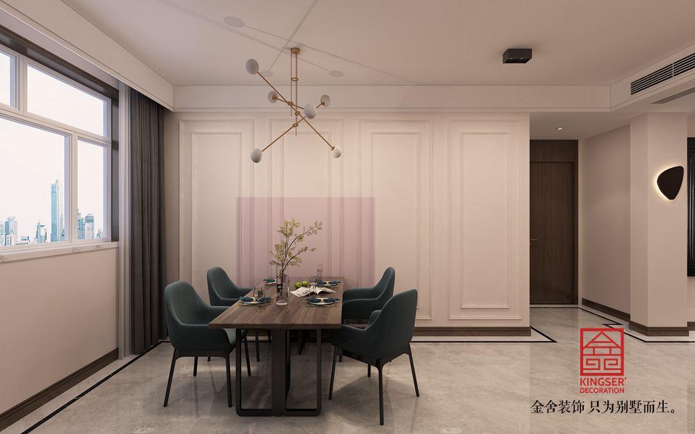 奥北公元134平米装修-现代风格-餐厅