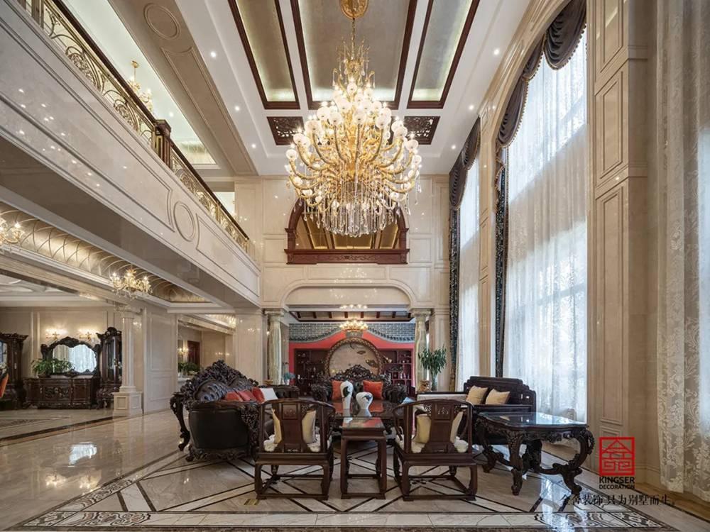 无极御珑华府2400平米别墅欧式风格-客厅