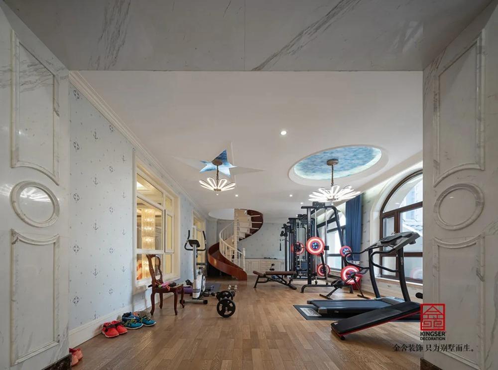 无极御珑华府2400平米别墅欧式风格-休闲室