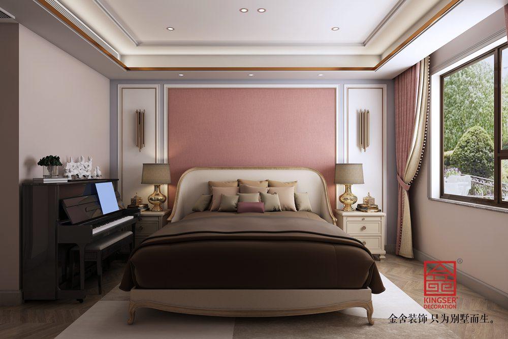 荣盛华府205平装修-美式风格-卧室