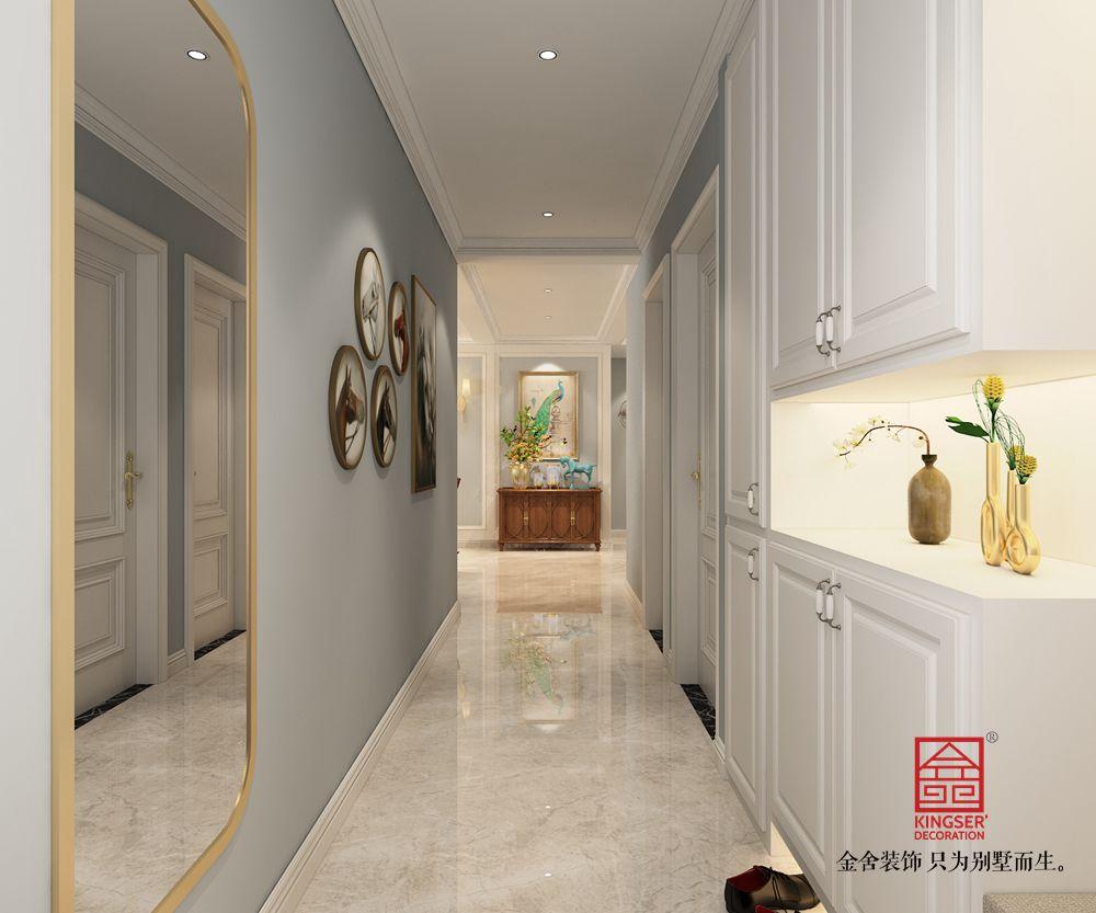 东南智汇城142平米美式风格装修-玄关