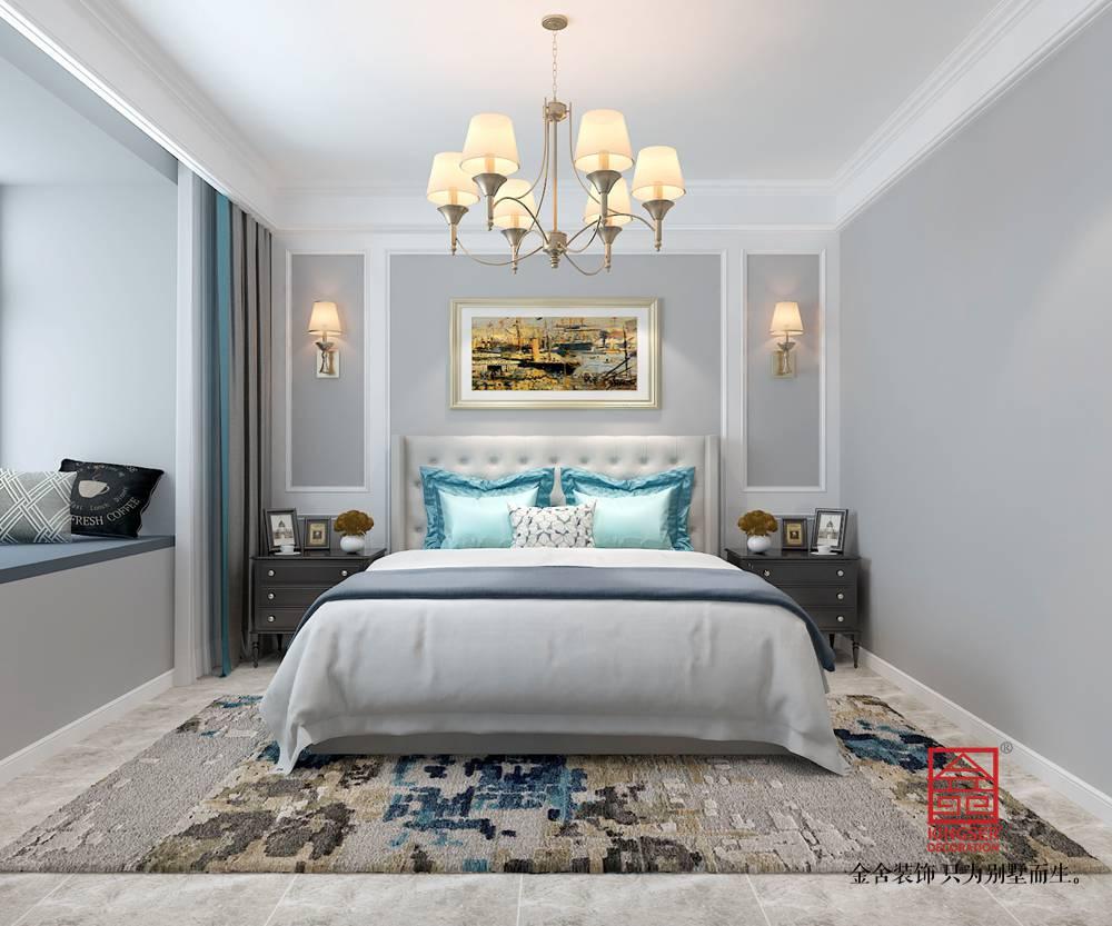 东南智汇城142平米美式风格装修-卧室