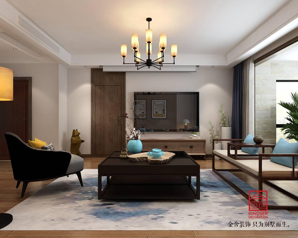 东南智汇城191平米混搭风格装修-客厅