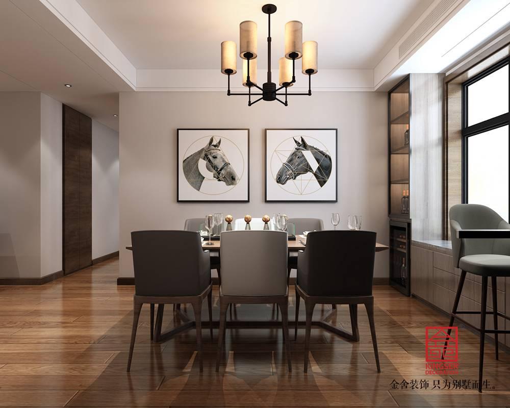 东南智汇城191平米混搭风格装修-餐厅