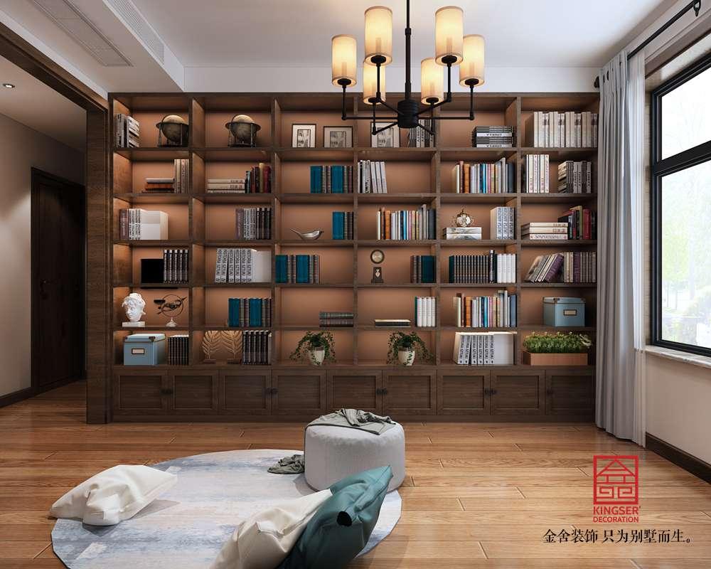 东南智汇城191平米混搭风格装修-书房