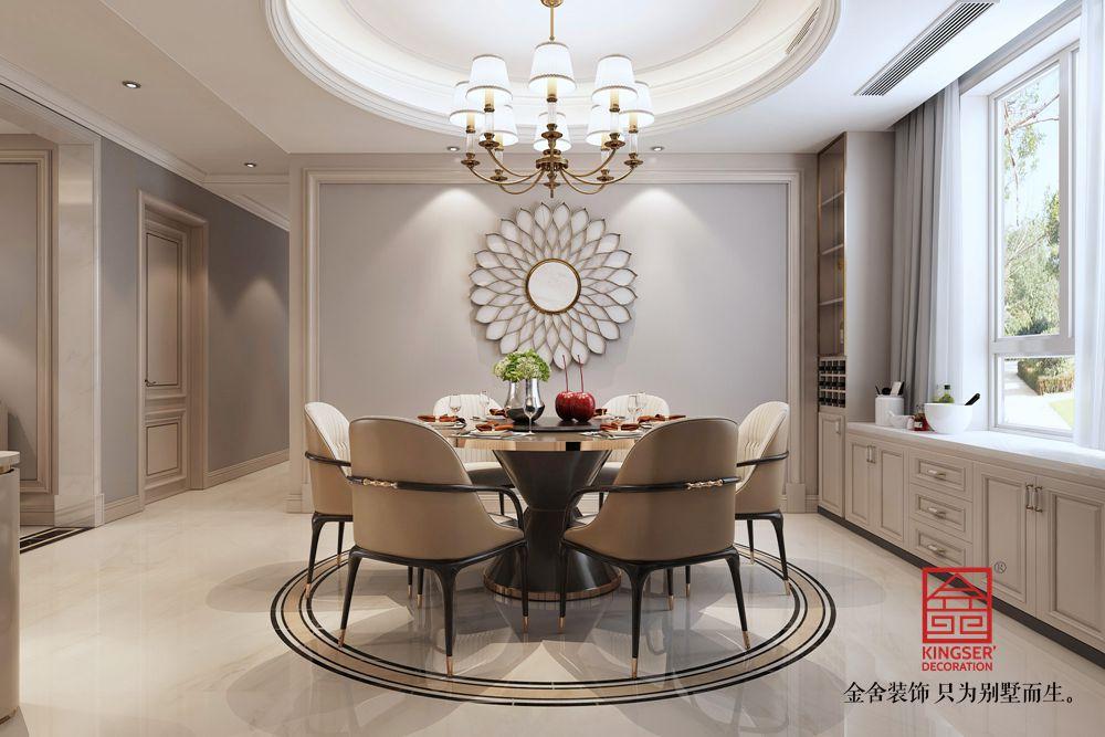 东南智汇城191平米装修-美式风格-餐厅
