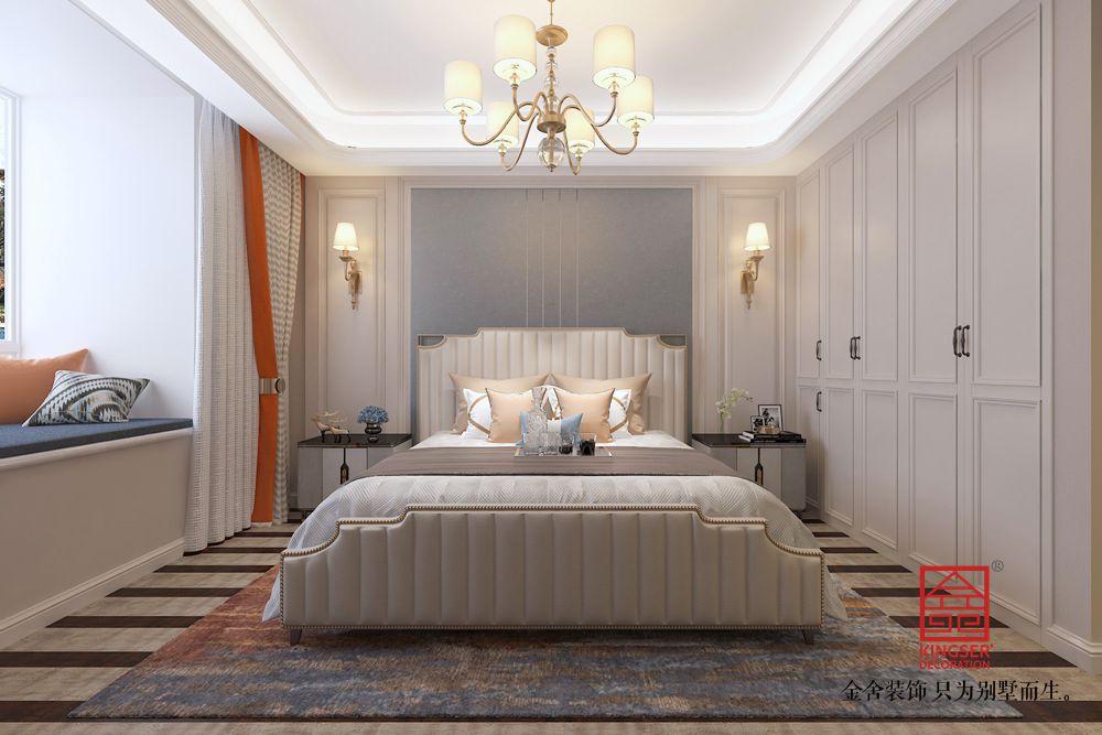东南智汇城191平米-美式风格-卧室
