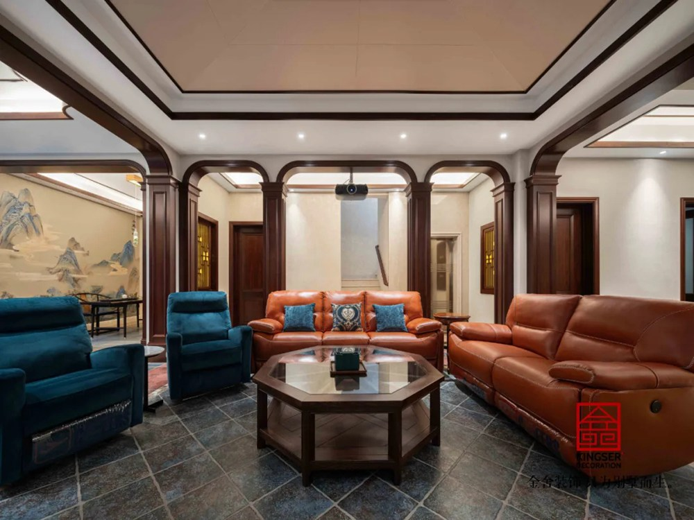 西山林语别墅540平装修-欧式风格-客厅