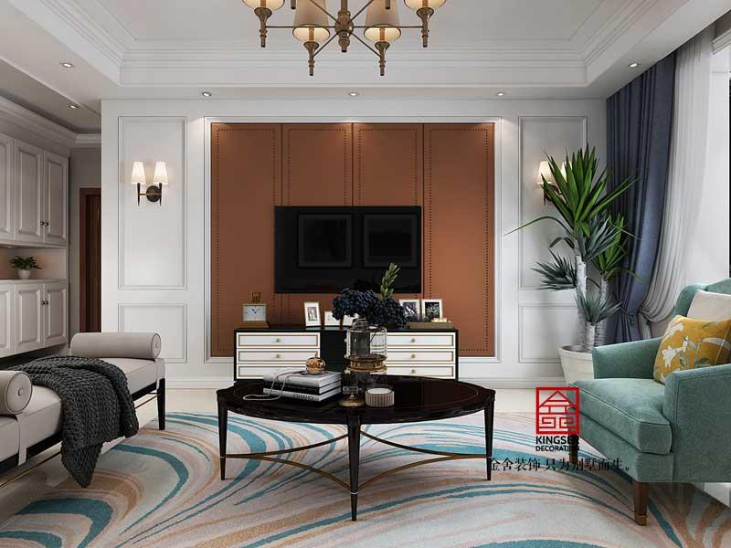 维多利亚135平装修-现代简约-客厅