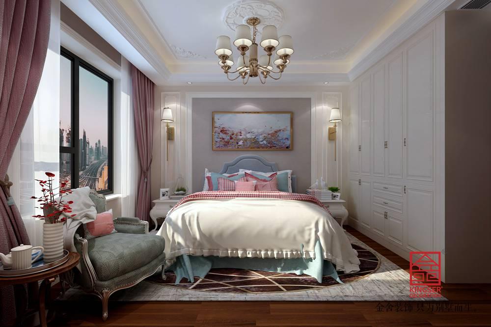 荣盛华府200平米混搭风格装修-卧室