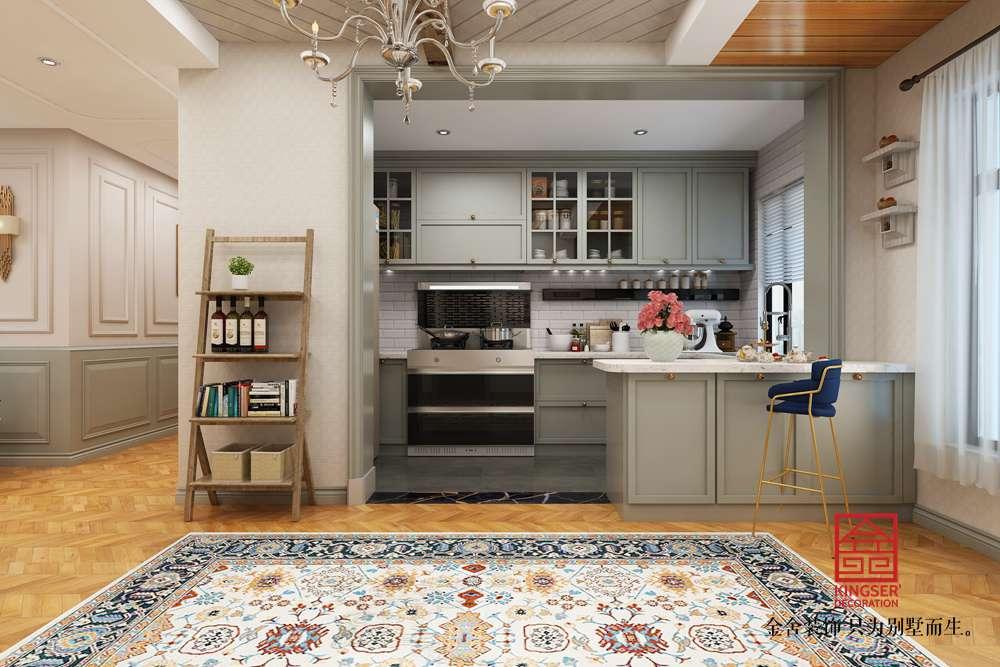 东南智汇城126平装修-法式轻奢风格-厨房