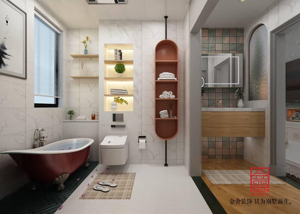 东南智汇城126平装修-法式轻奢风格-卫生间