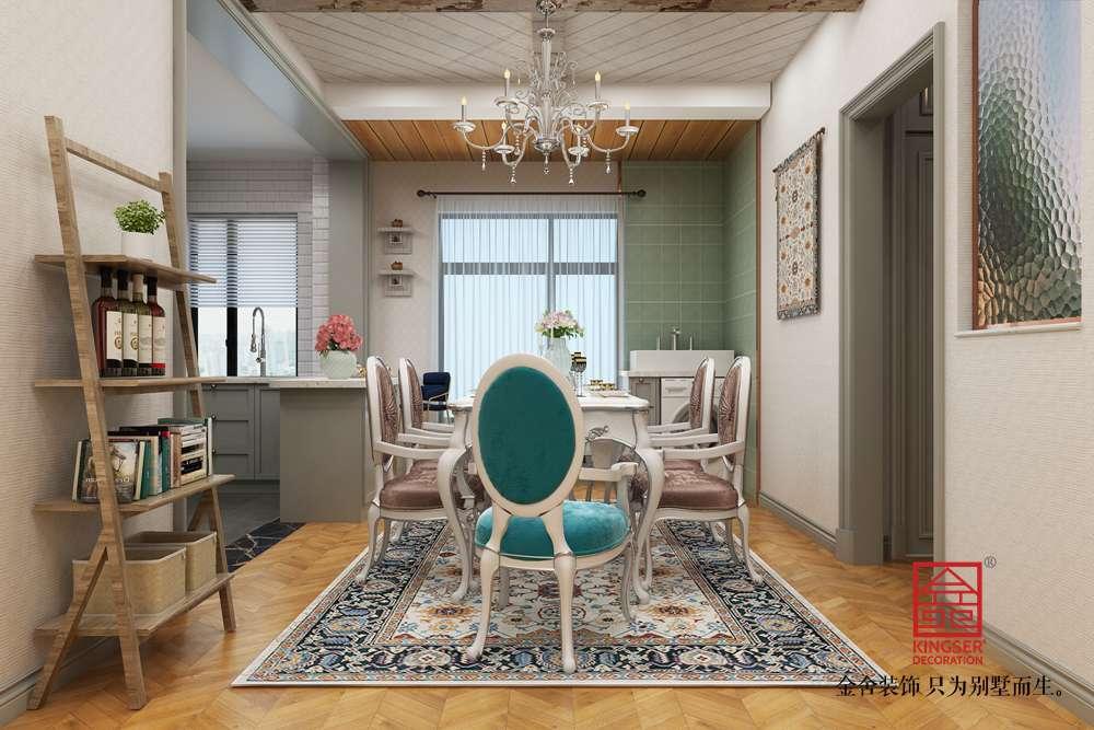 东南智汇城126平装修-法式轻奢风格-客厅