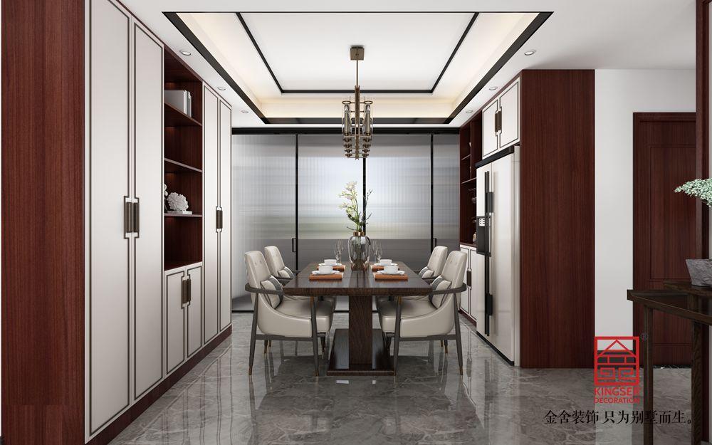 东城国际140平新中式风格装修-餐厅