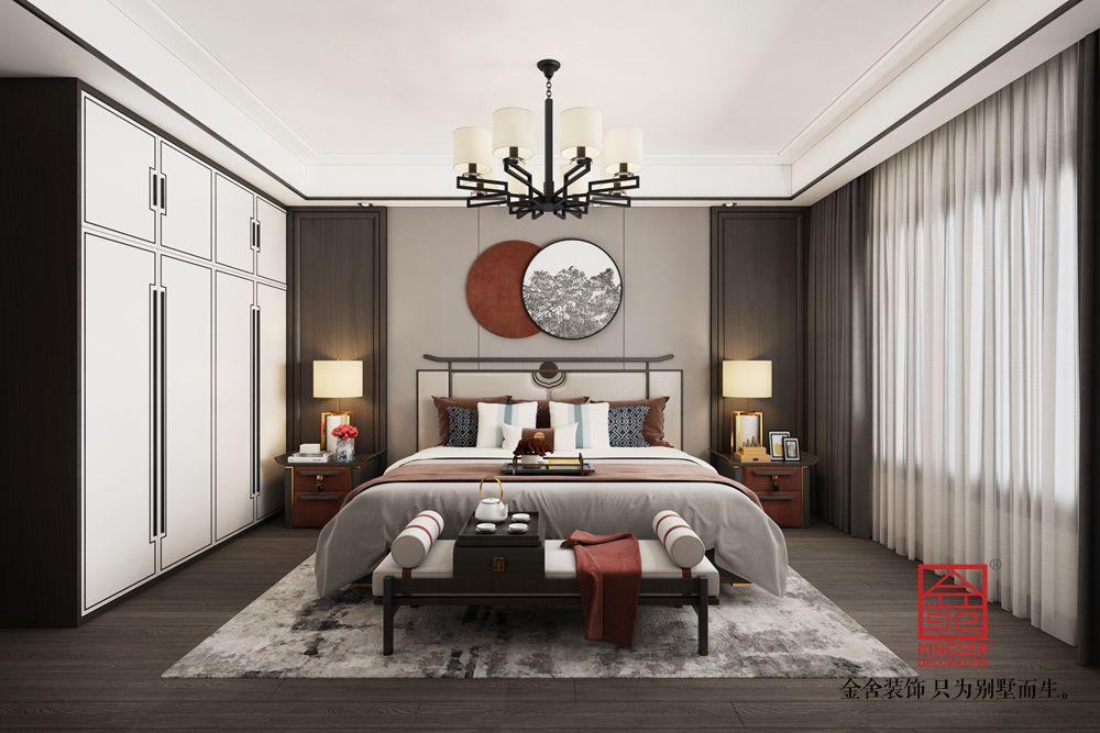 东城国际140平新中式风格装修-卧室