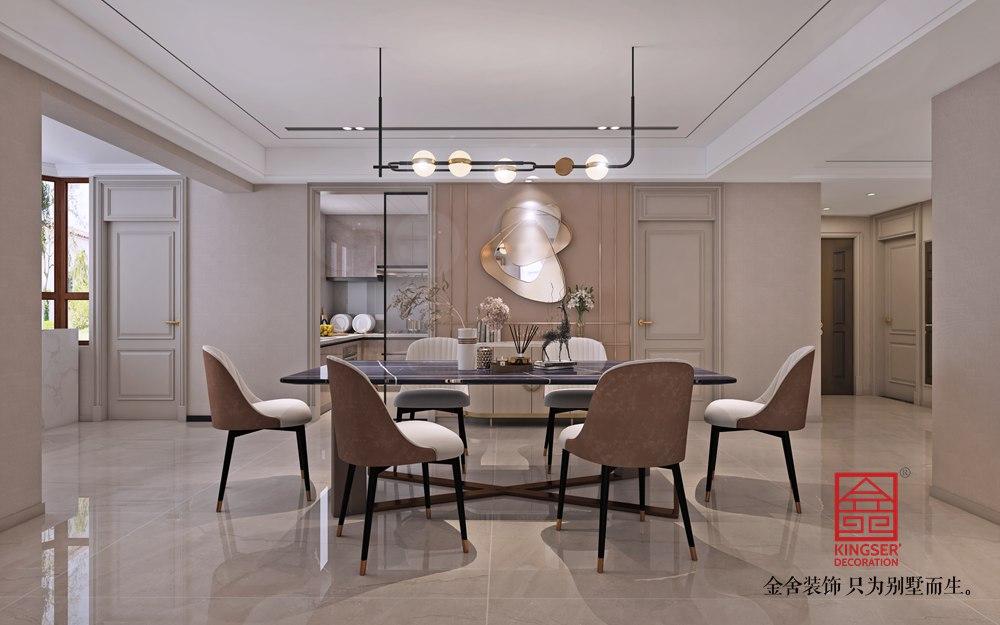 荣盛华府213平米装修-轻奢风格-餐厅