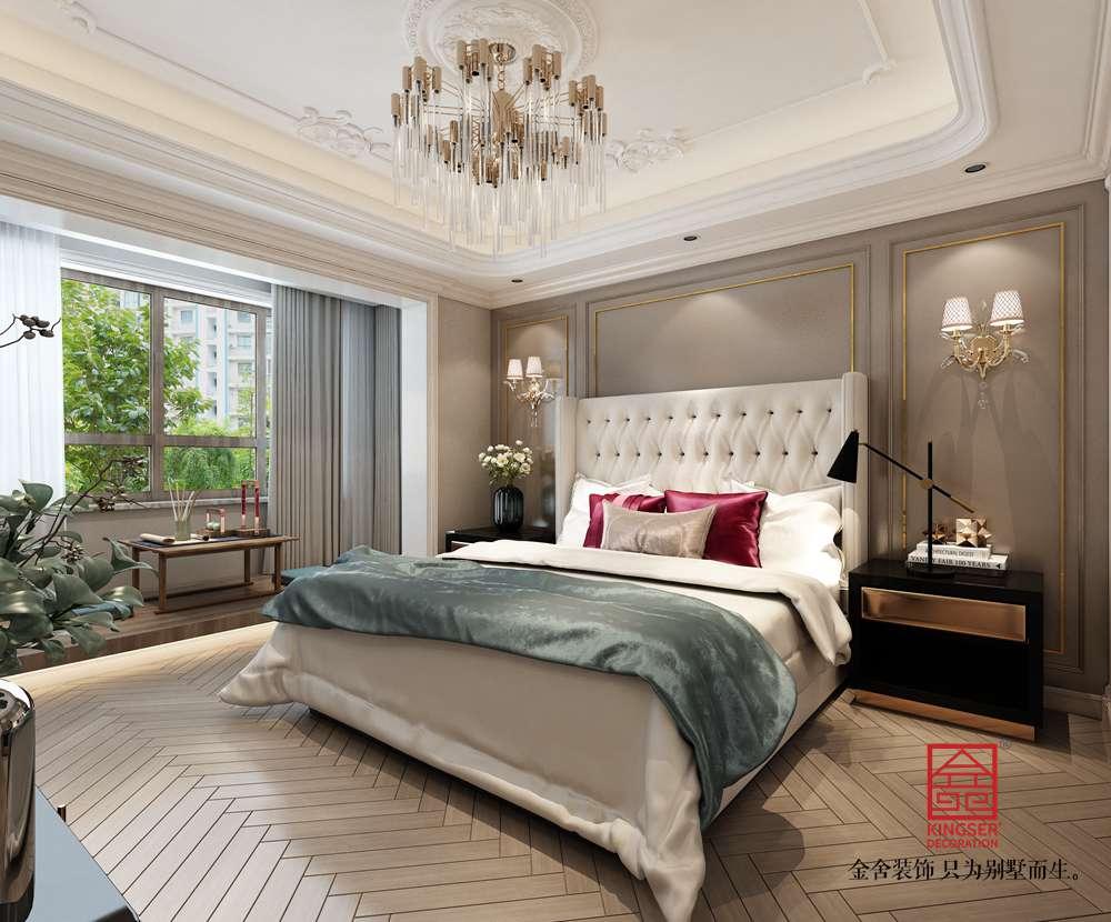荣盛华府318平米装修-美式风格-卧室