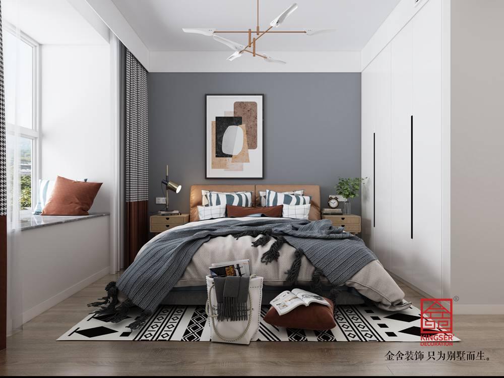 东南智汇城94平米现代风格装修-卧室