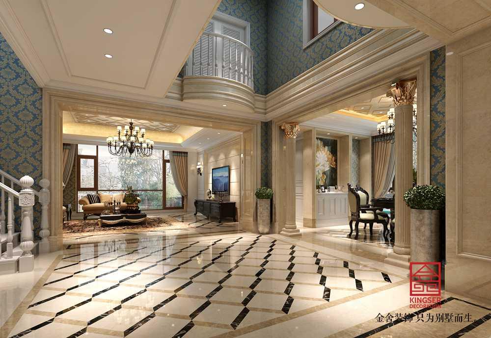 万科东丽湖别墅装修-欧式风格-客厅