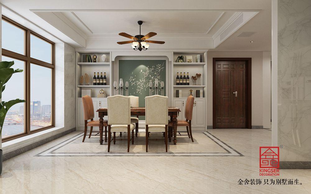 融创中心217平米简美风格装修-餐厅