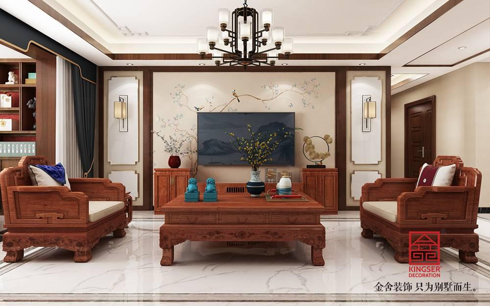 维多利亚三期166平米装修-客厅