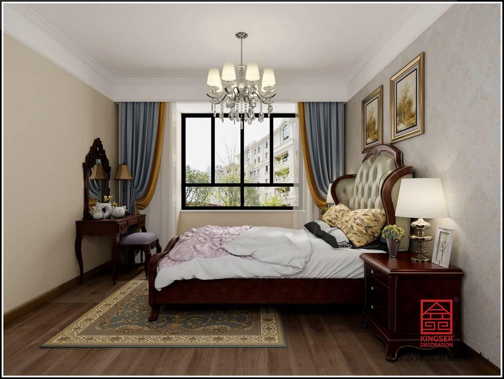 保利西悦春天105平米新古典装修-卧室