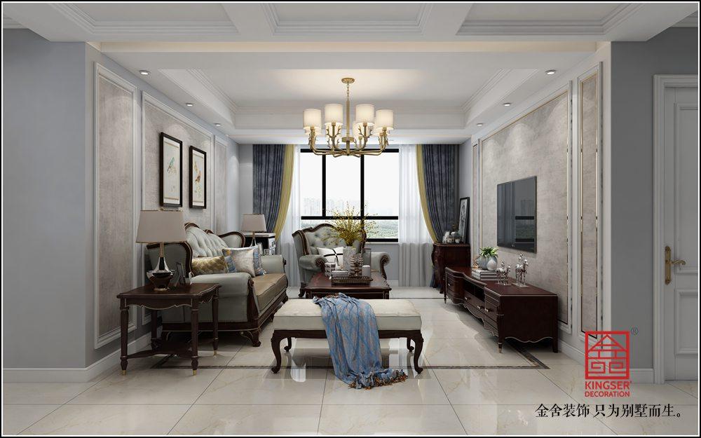 保利西悦春天105平米新古典装修-客厅