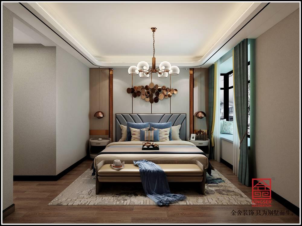 水榭花都180平米轻奢风格装修-卧室