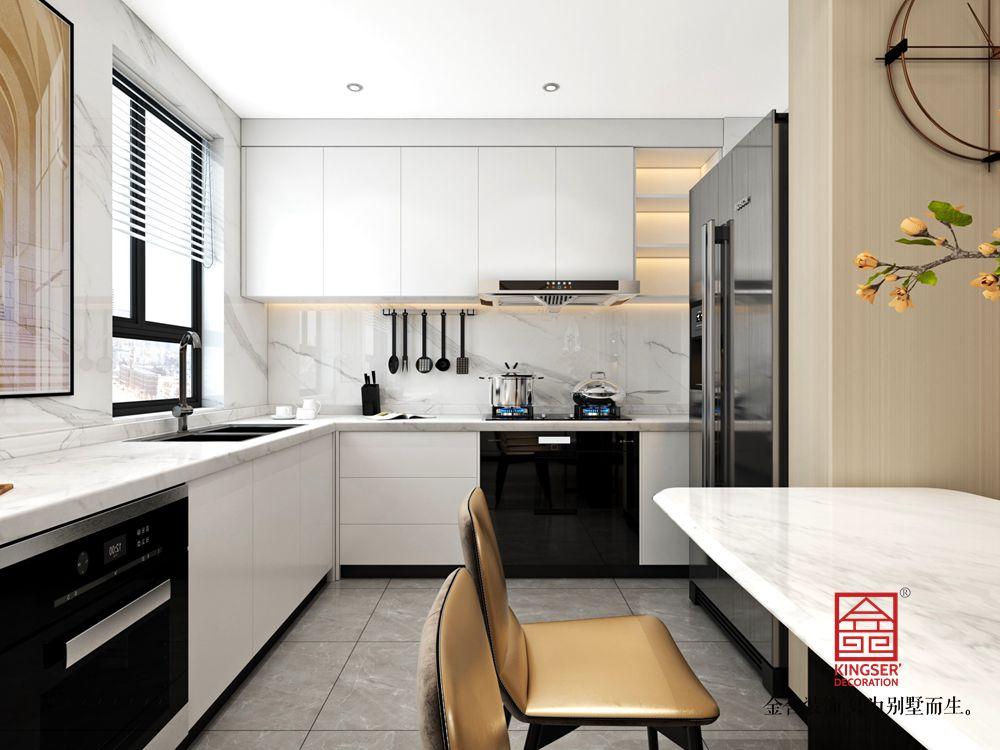 荣盛和府198平米现代轻奢风格装修-厨房