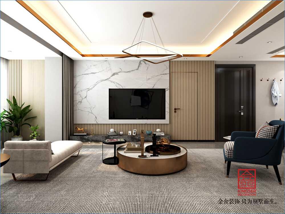 荣盛和府198平米现代轻奢风格装修-卧室