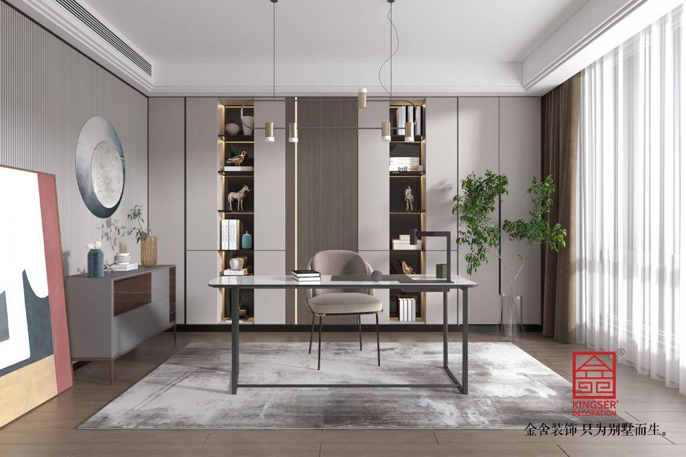 荣盛和府198平米美式风格-书房