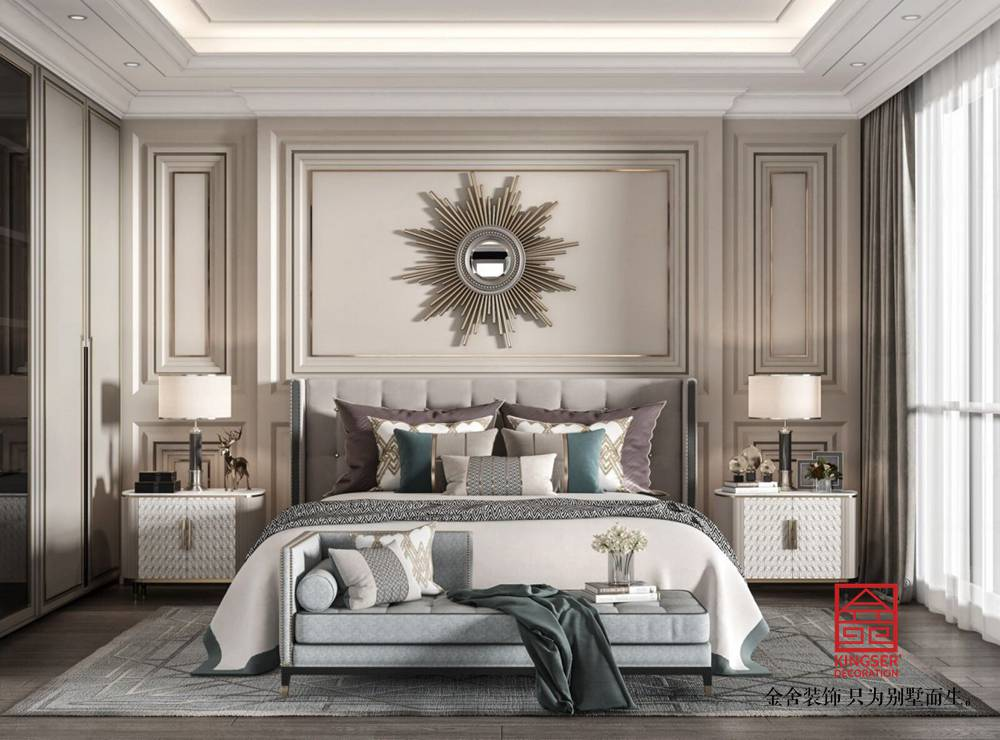 荣盛和府198平米美式风格-卧室