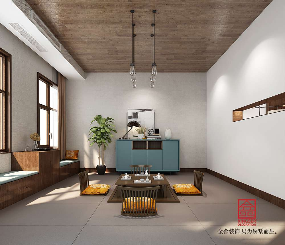 大者别墅290平米装修-现代简约-休息室