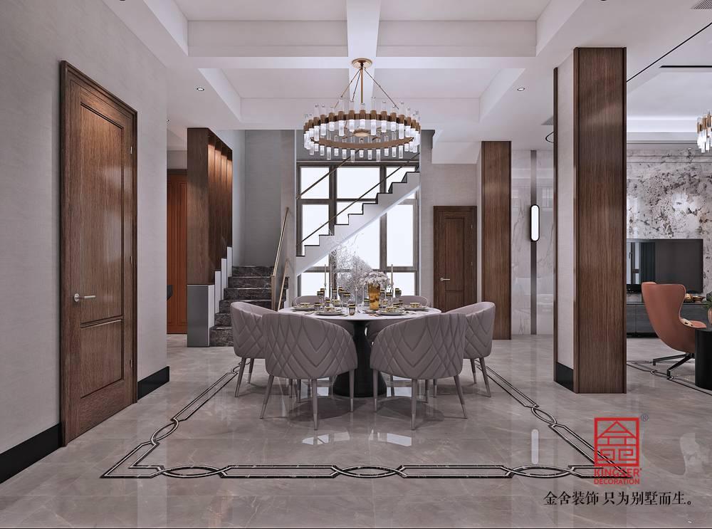 大者别墅290平米装修-现代简约-餐厅