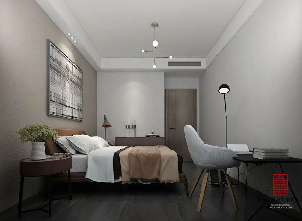 荣盛华府178平米装修-现代简约风格-卧室