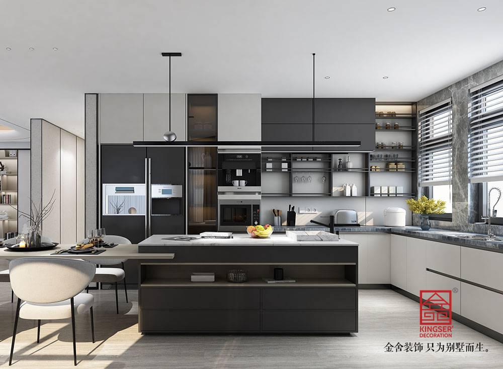 汇君城360平米装修-现代简约风格-厨房