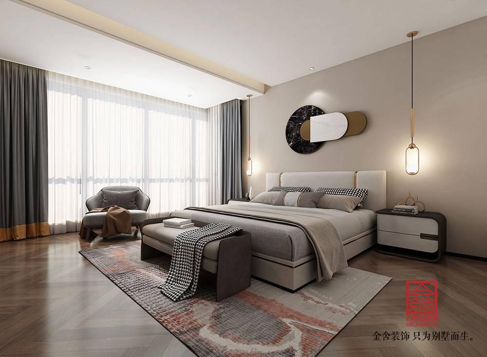帝王国际168平米现代极简装修-卧室
