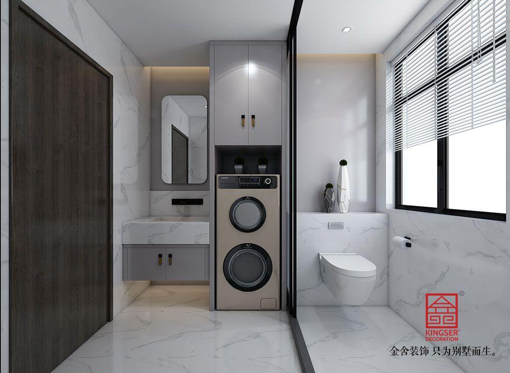 帝王国际168平米现代极简装修-卫生间