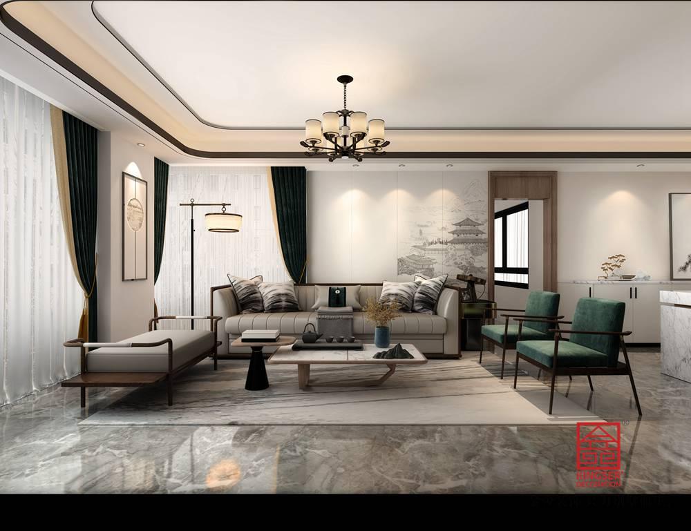 大者260平米新中式风格装修-客厅