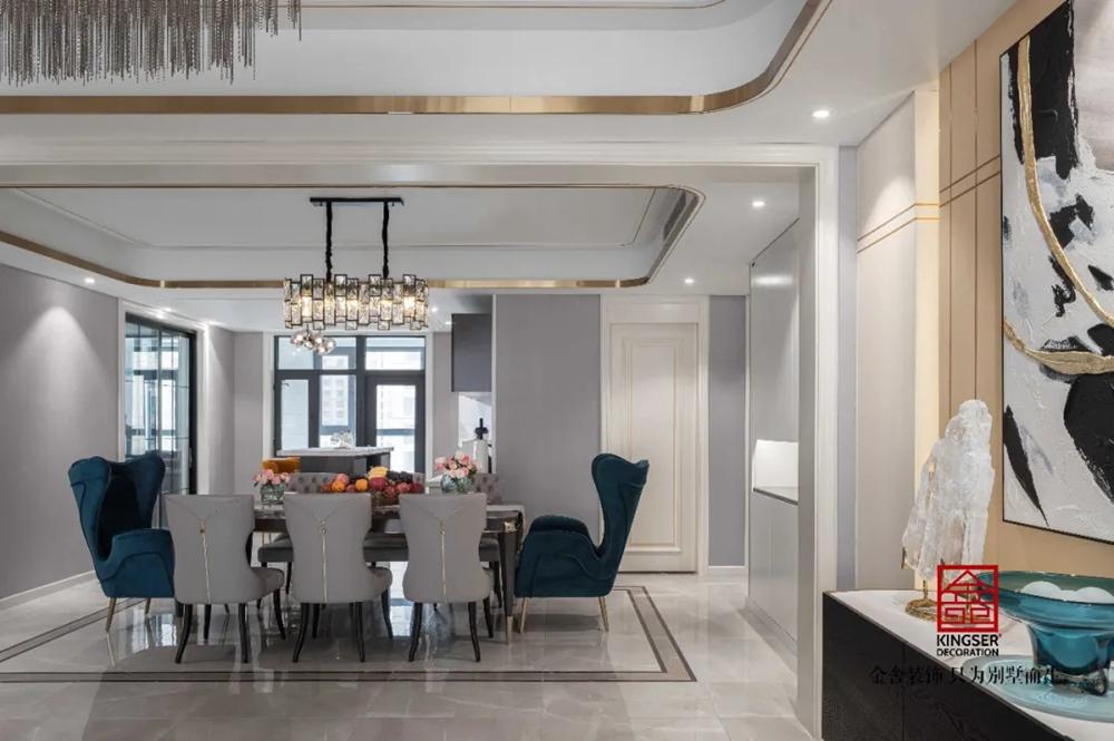 林荫大院260平米港式风格装修实景-餐厅