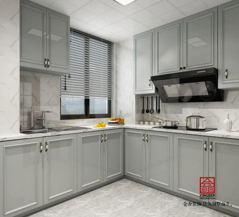 翰林甲第149平米装修-简美风格-厨房