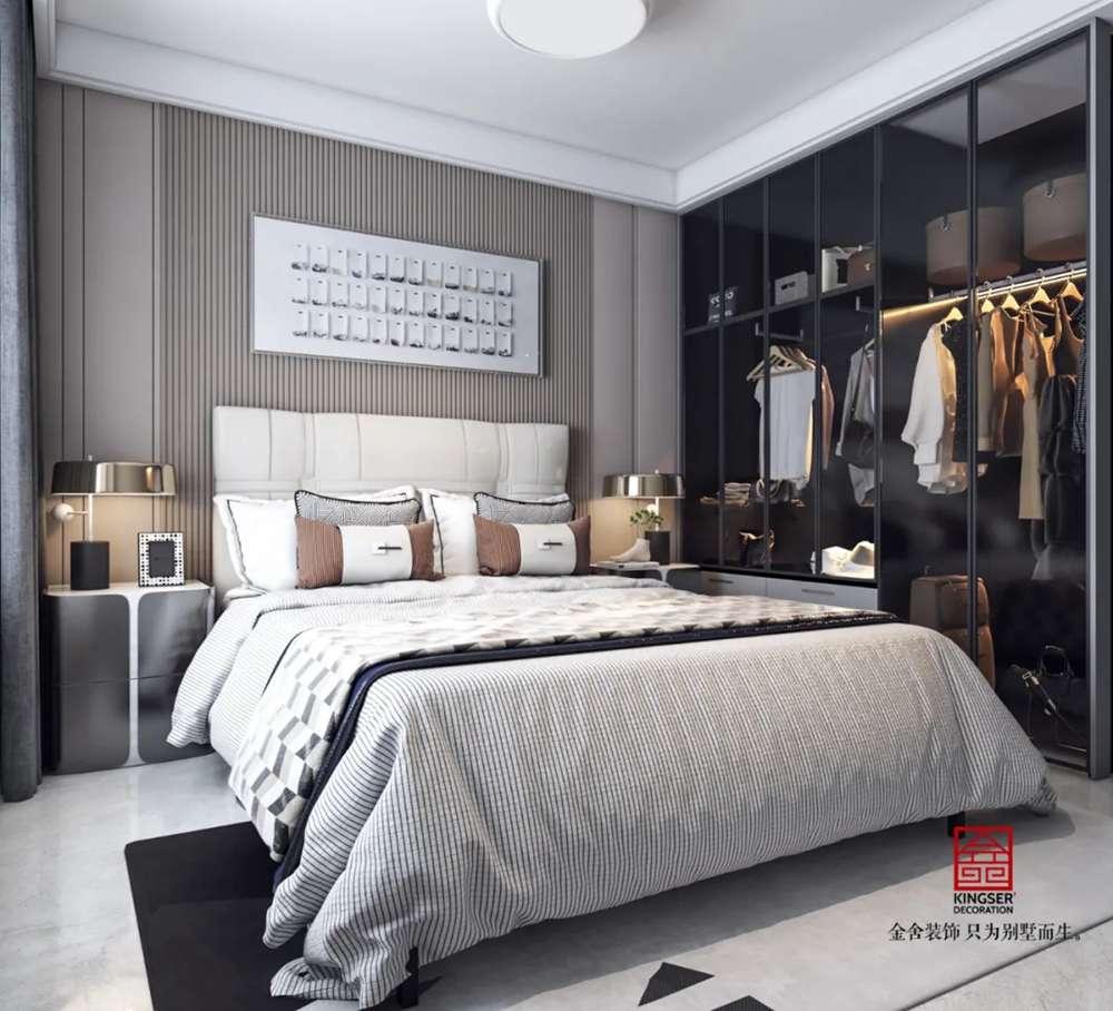 翰林甲第133平米装修-现代简约风格-卧室