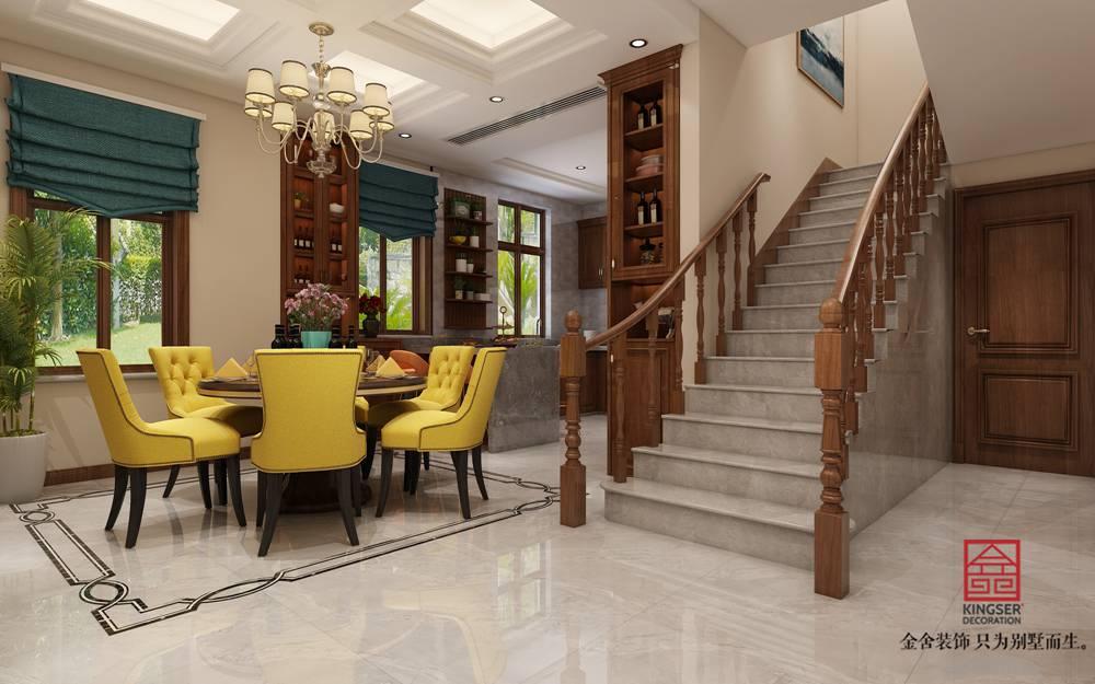 碧桂园260平美式风格装修-餐厅
