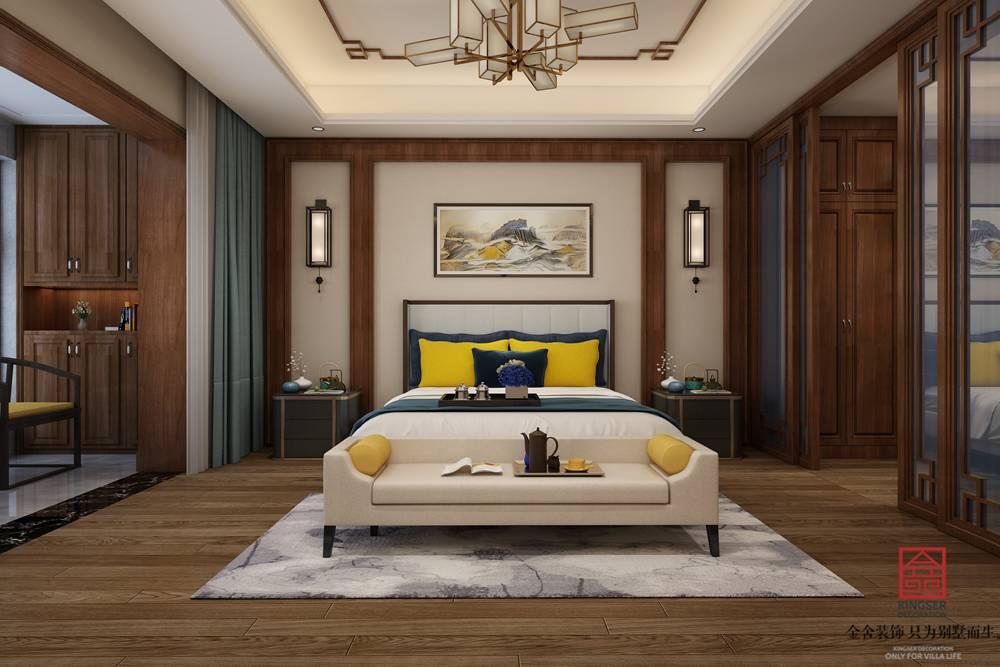 碧桂园260平美式风格装修-卧室