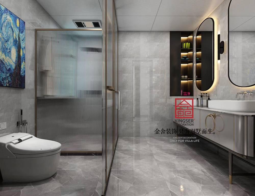 健康城160平米装修-美式风格-卫生间