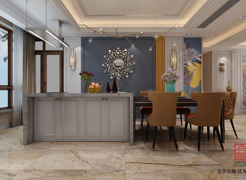 深州国宾壹号200平米装修-美式风格-厨房
