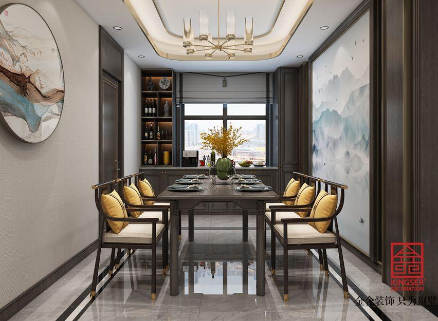 荣盛御府186平米装修-新中式风格-餐厅