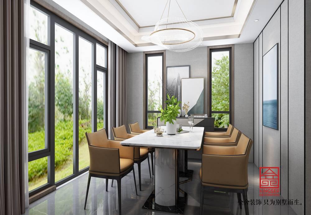 荣盛御府373平米现代风格装修-餐厅