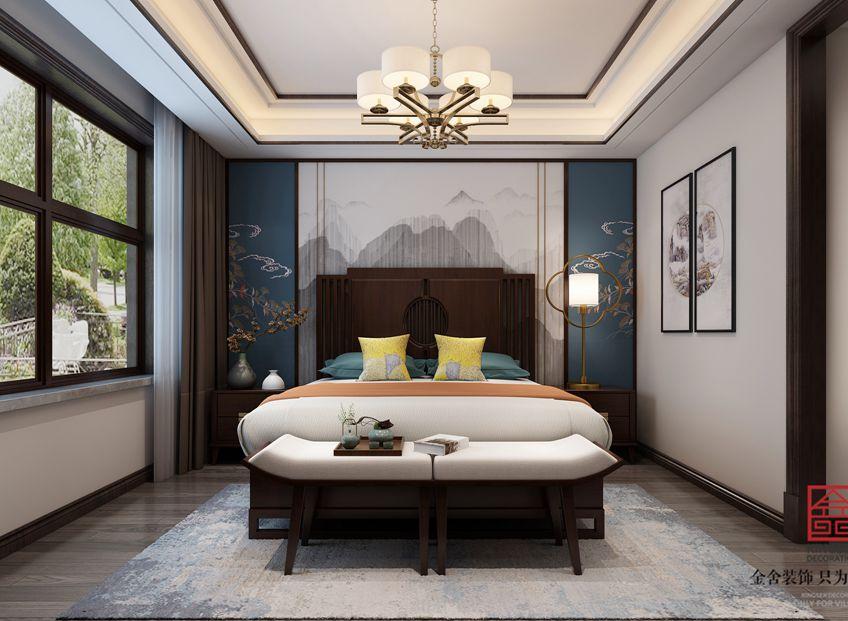 荣盛华府185平米新中式装修-卧室
